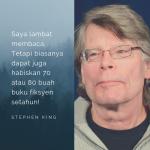 Stephen King: Penulis Pun Kena Baca Buku!
