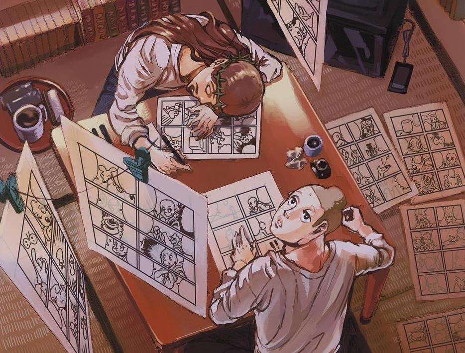 Di antara ilustrasi pelukis manga yang terpamer ~ foto secretlondon