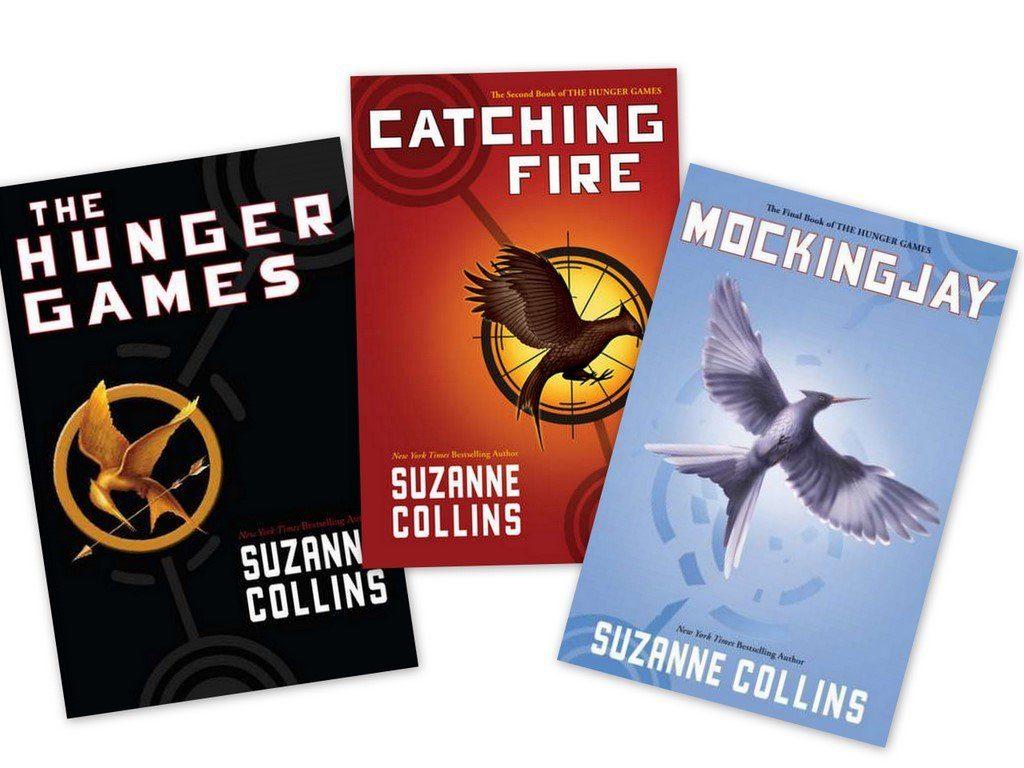Tiga novel The Hunger Games, Catching Fire dan Mockingjay ~ foto amazon