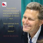 David Baldacci: Tulis Walau Budak Menangis