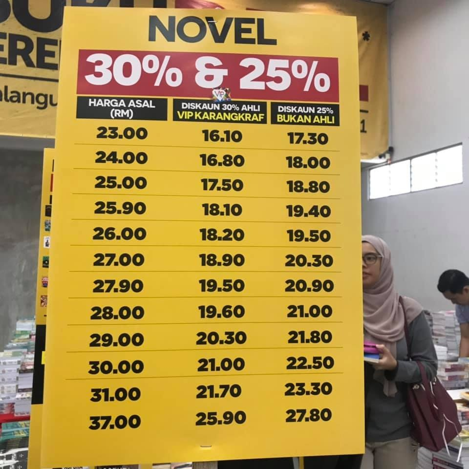 Poster harga diskaun menarik Jualan Gudang Karangkraf