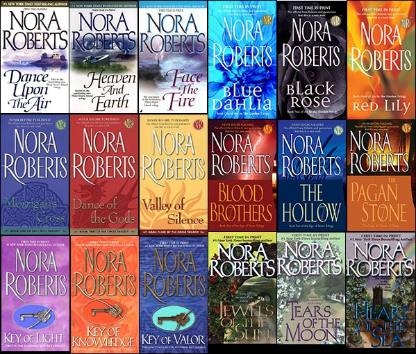 Di antara ratusan novel-novel Nora Roberts ~ foto pinterest