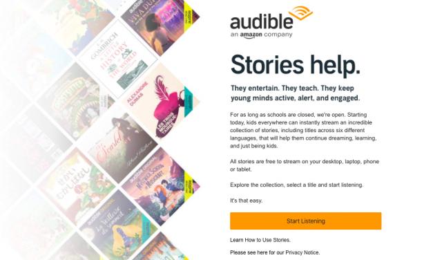 Audible menawarkan buku audio secara percuma sempena pandemik!